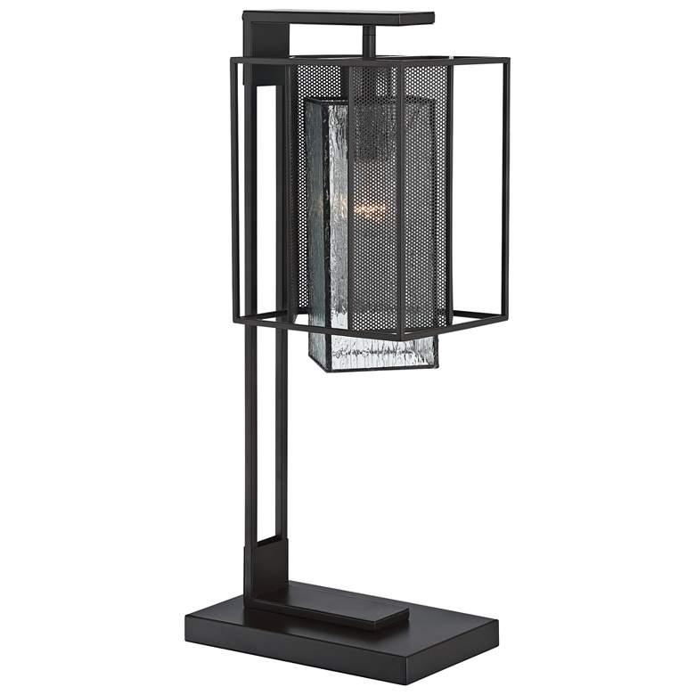 Lite Source Silveny Matte Black and Glass Desk Lamp