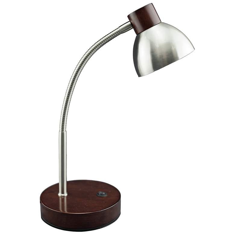 Lite Source Eryx Brushed Nickel Gooseneck LED Desk Lamp