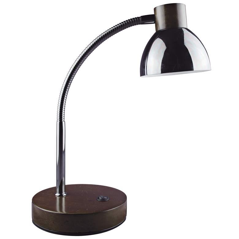 Lite Source Eryx Gunmetal Gooseneck LED Desk Lamp