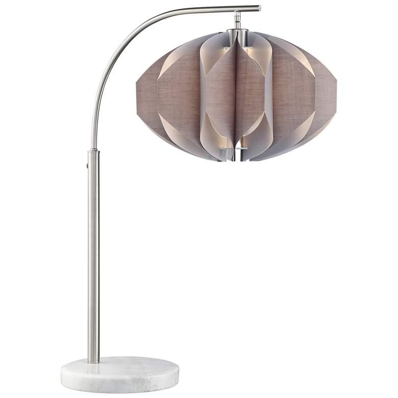Lite Source Reina Brushed Nickel Arc Desk Lamp
