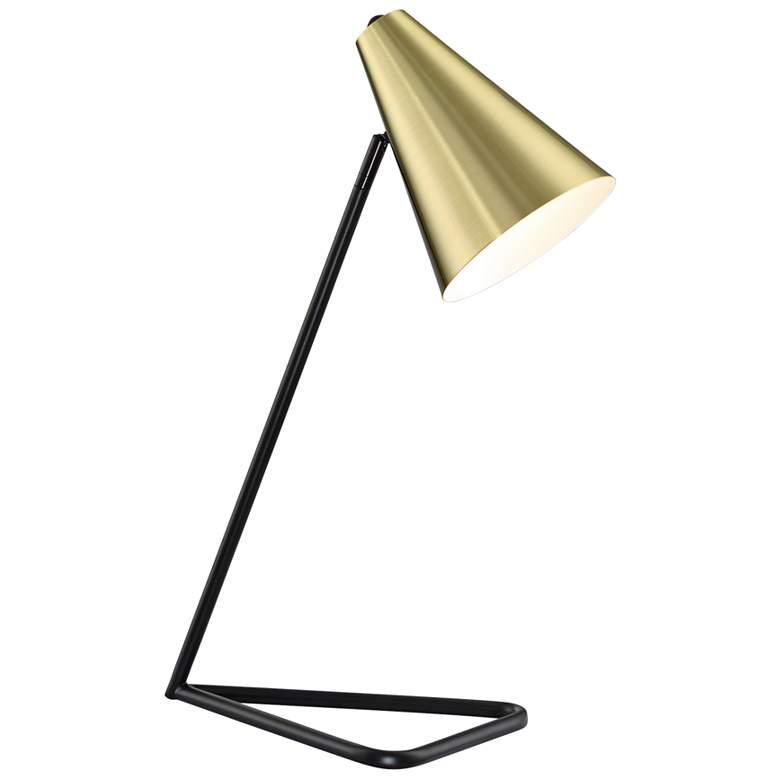 Lite Source Cooper Gold Metal Desk Lamp