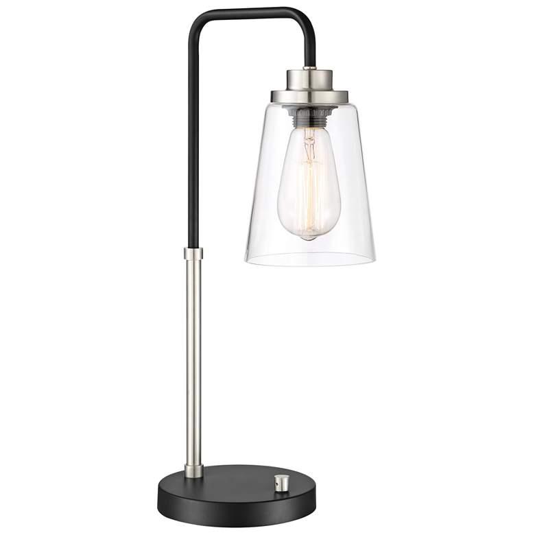 Lite Source Colinton Brushed Nickel Metal Desk Lamp
