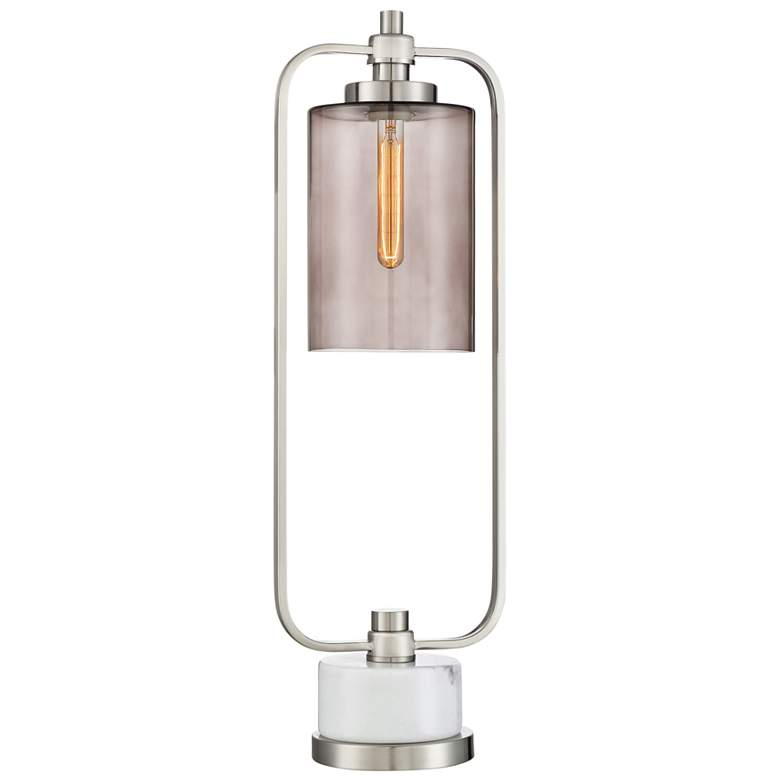 Lite Source Lubbock Brushed Nickel Metal Desk Lamp