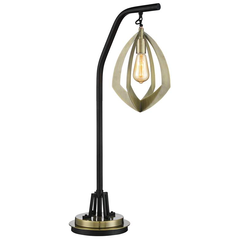 Lite Source Rogerton Antique Brass Hanging Lantern Desk Lamp