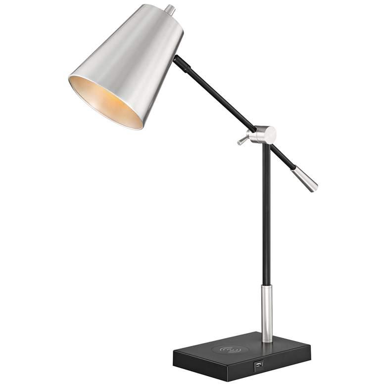 Lite Source Salma Brushed Nickel Balance Arm Desk Lamp