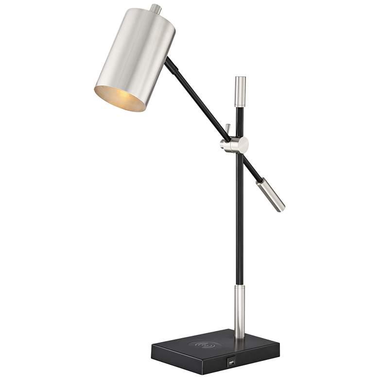 Lite Source Payne Brushed Nickel Balance Arm Desk Lamp