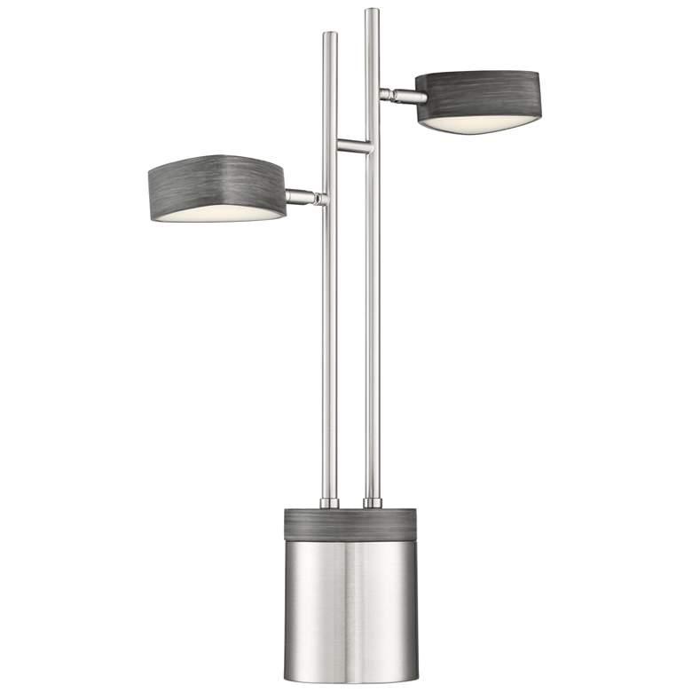 Lite Source Charlyne Brushed Nickel 2-Light LED Desk Lamp