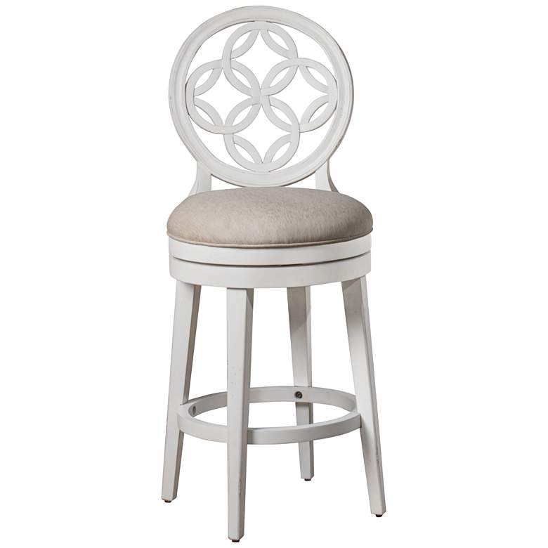 "Hillsdale Savona 26"" Oyster Beige Swivel Counter Stool"