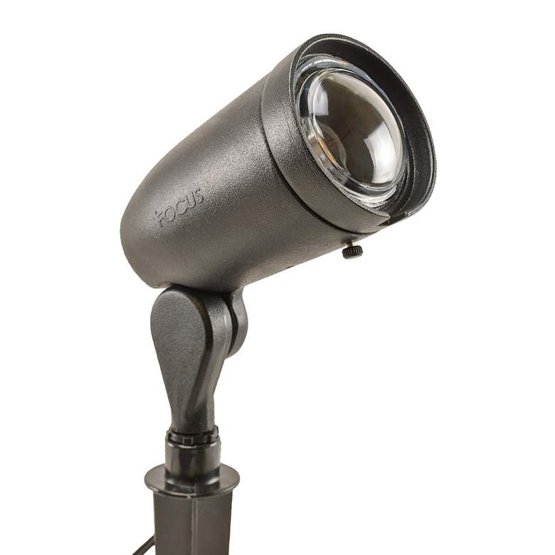 "Black Texture 8 3/4"" High LED Landscape Spot Light"