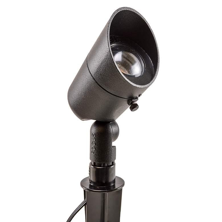 "Black Texture 7 1/2"" High MR16 LED Landscape Spot Light"