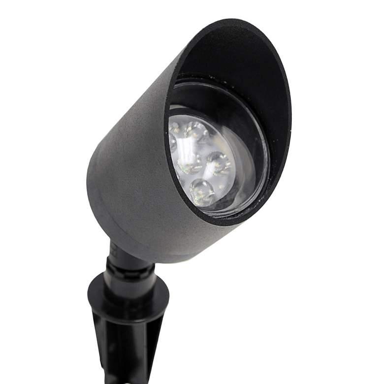 "Black Texture 7 1/2"" High LED Landscape Spot Light"