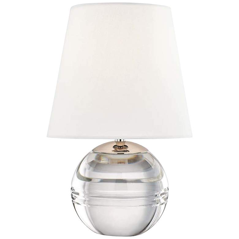 "Mitzi Nicole 12 3/4""H Clear Glass Sphere Accent Table Lamp"