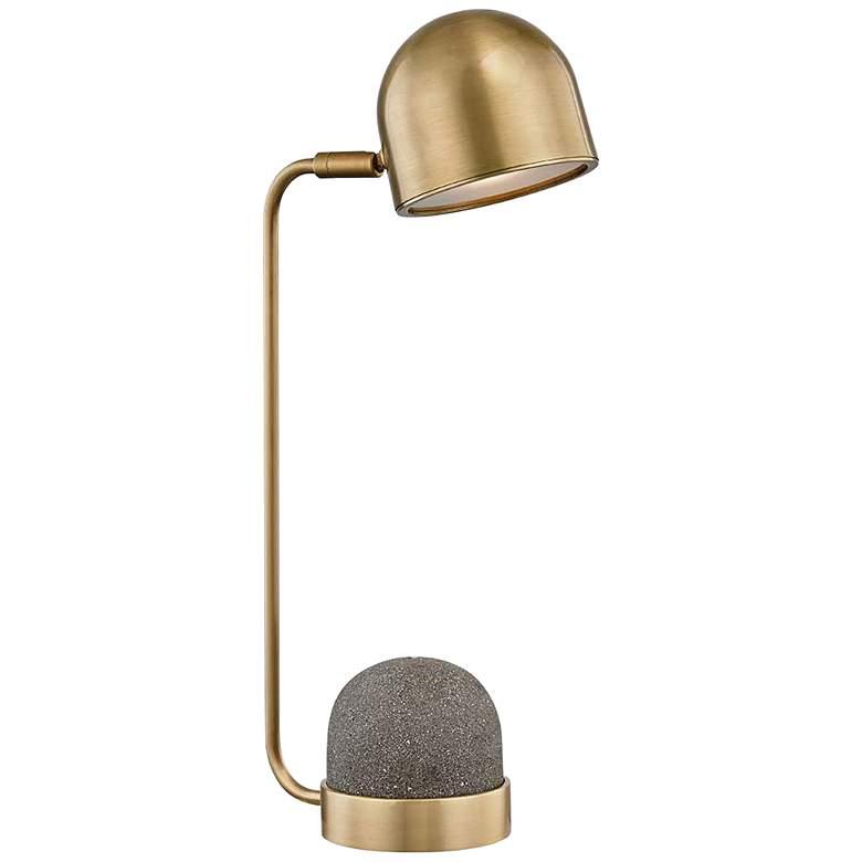 "Mitzi Nikki 17 3/4"" High Aged Brass Accent Table Lamp"