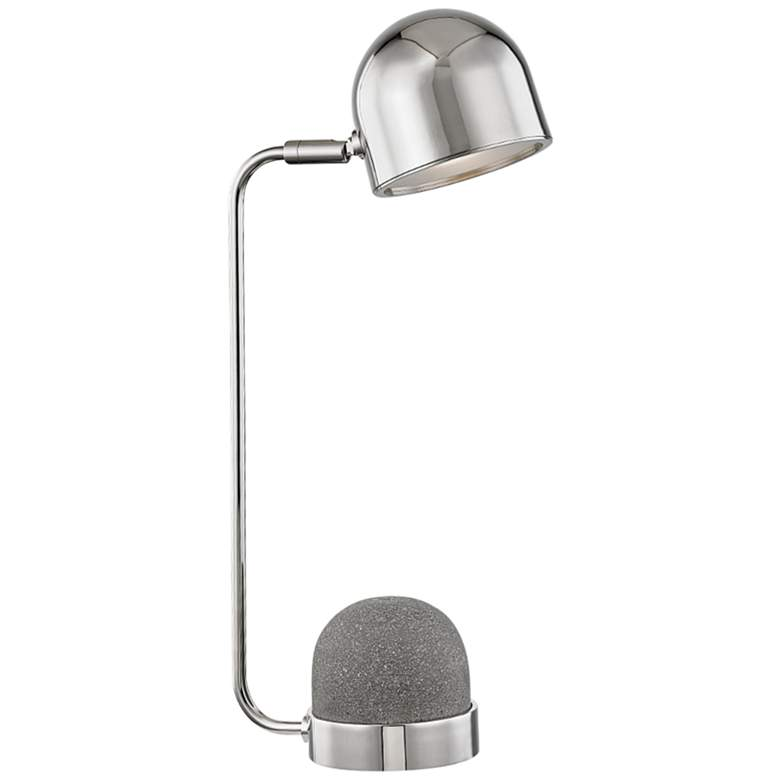 """Mitzi Nikki 17 3/4"""" High Polished Nickel Accent Table Lamp"""