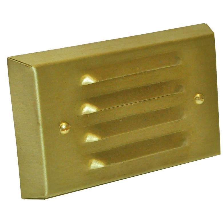 "Stamped Brass 4 3/4"" Wide LED 4-Louver Step/Brick Light"