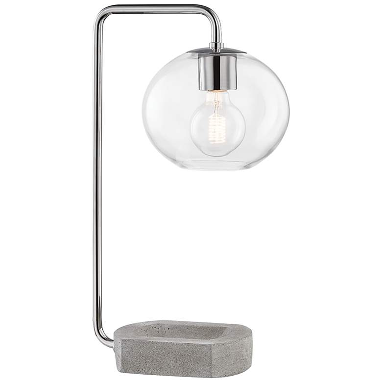 Mitzi Margot Polished Nickel and Concrete Accent Table Lamp