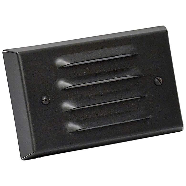 "Black Texture 4 3/4"" Wide LED 4-Louver Step/Brick Light"