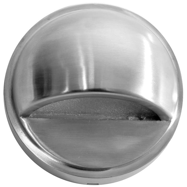 """Hockey Puck 3 3/4""""W Stainless Steel LED Surface Step Light"""