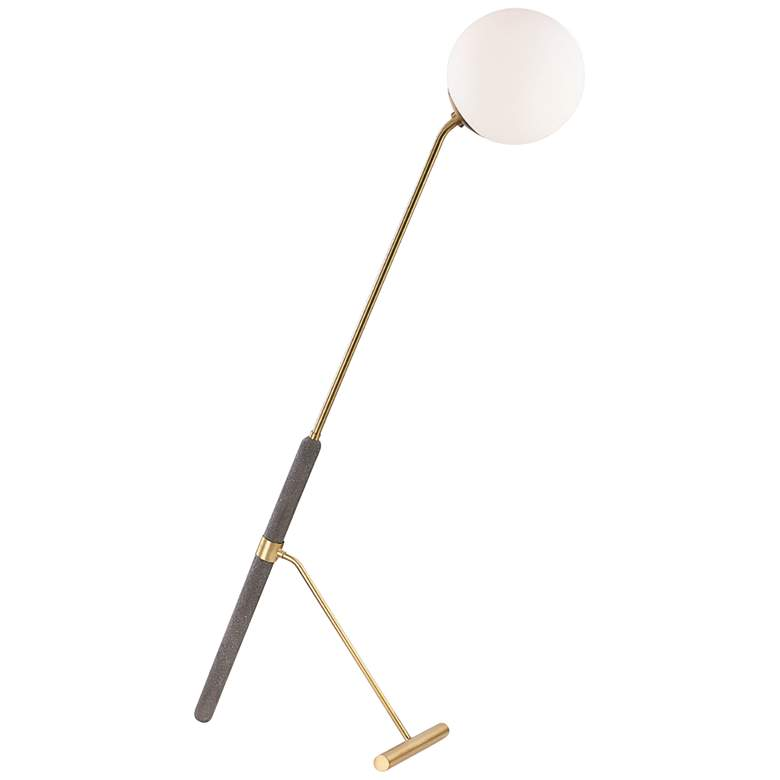 Mitzi Brielle Aged Brass and Concrete Floor Lamp