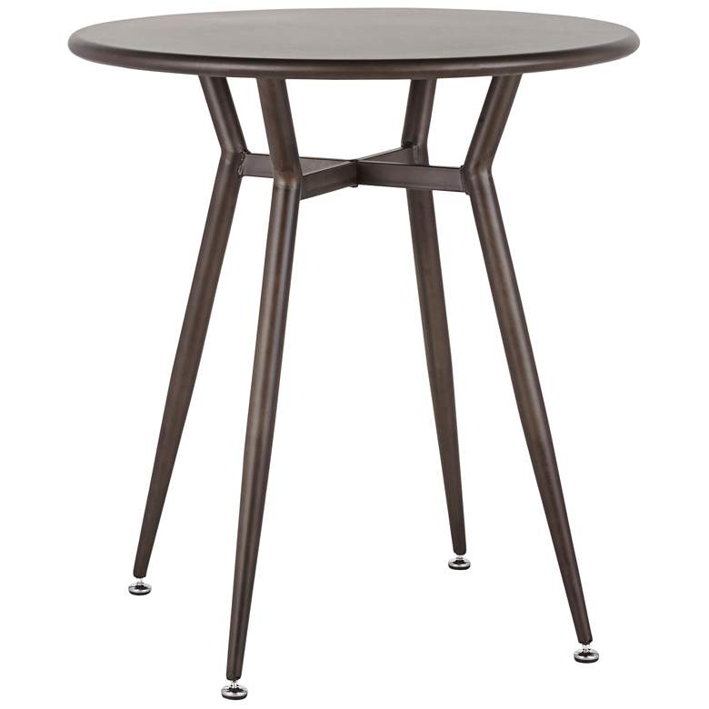 """Clara 27 3/4"""" Wide Antique Metal 4-Seater Round Dining Table"""
