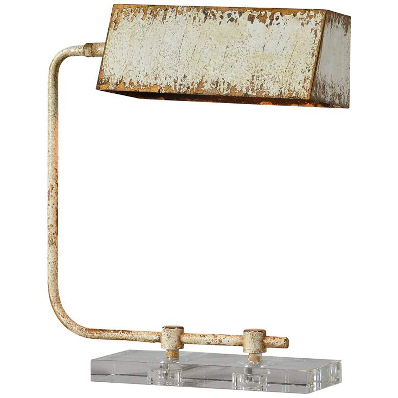 Forty West Henning Cottage White and Gold Arc Desk Lamp