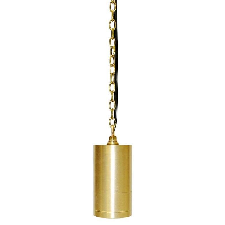 "Brass Cylinder 23 1/4"" High LED Outdoor Hanging Light"
