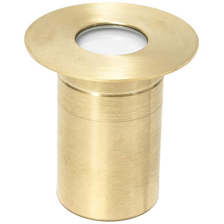 """Brass 2"""" Wide LED Outdoor Paver Light"""