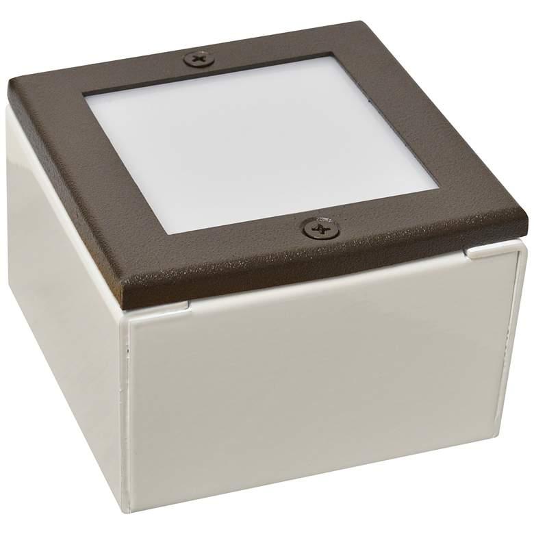 """Black Texture 8"""" Square LED Paver Light"""