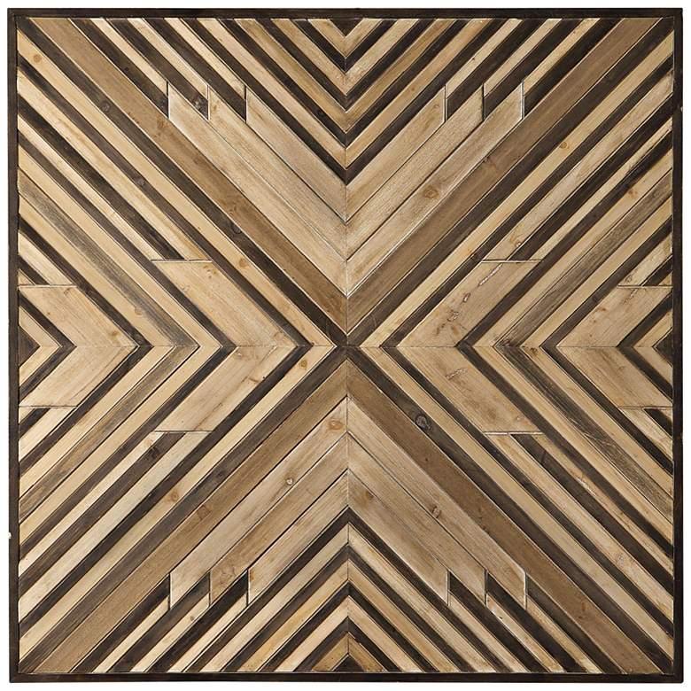 """Uttermost Floyd 40 1/2"""" High Geometric Wooden Wall Art"""