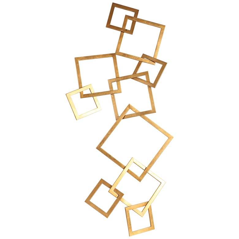 "Uttermost Vida 65 1/4"" High Gold Leaf Iron Wall Art"