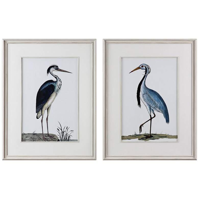 """Uttermost Shore Birds 42 1/2""""H 2-Piece Framed Wall Art Set"""