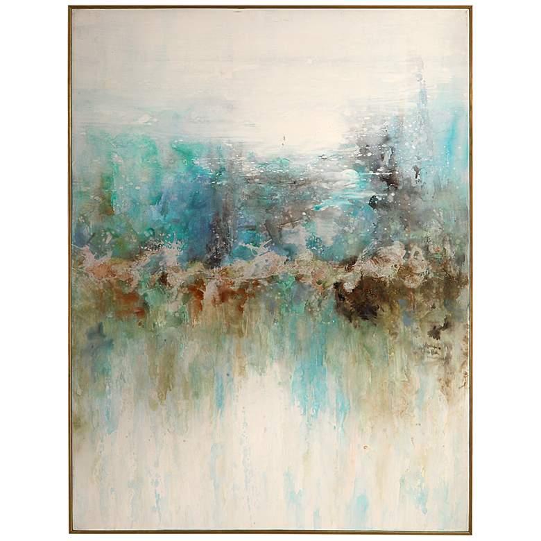 """Uttermost Mountain Top 48 1/2"""" High Framed Canvas Wall Art"""