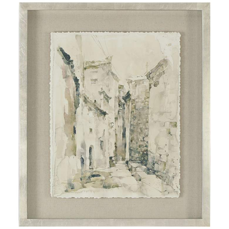 "Uttermost Alley 40 3/4"" High Framed Printed Wall Art"