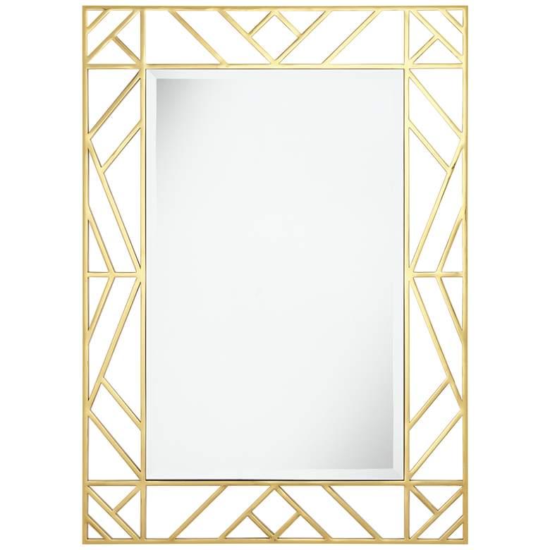 """Possini Euro Ariyah 28"""" x 39"""" Gold Openwork Wall Mirror"""