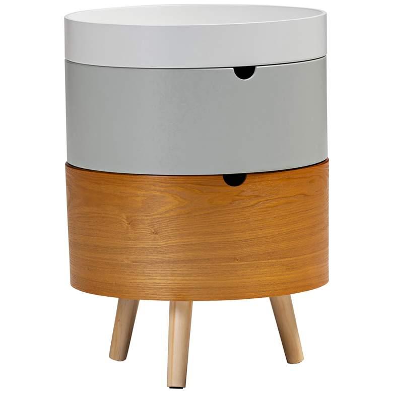 Baxton Studio Elison Multi-Color Wood 3-Tier Nightstand