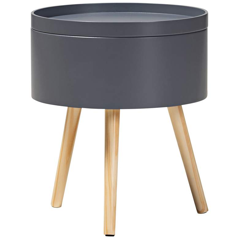 Baxton Studio Jessen Gray Wood Nightstand w/ Removable