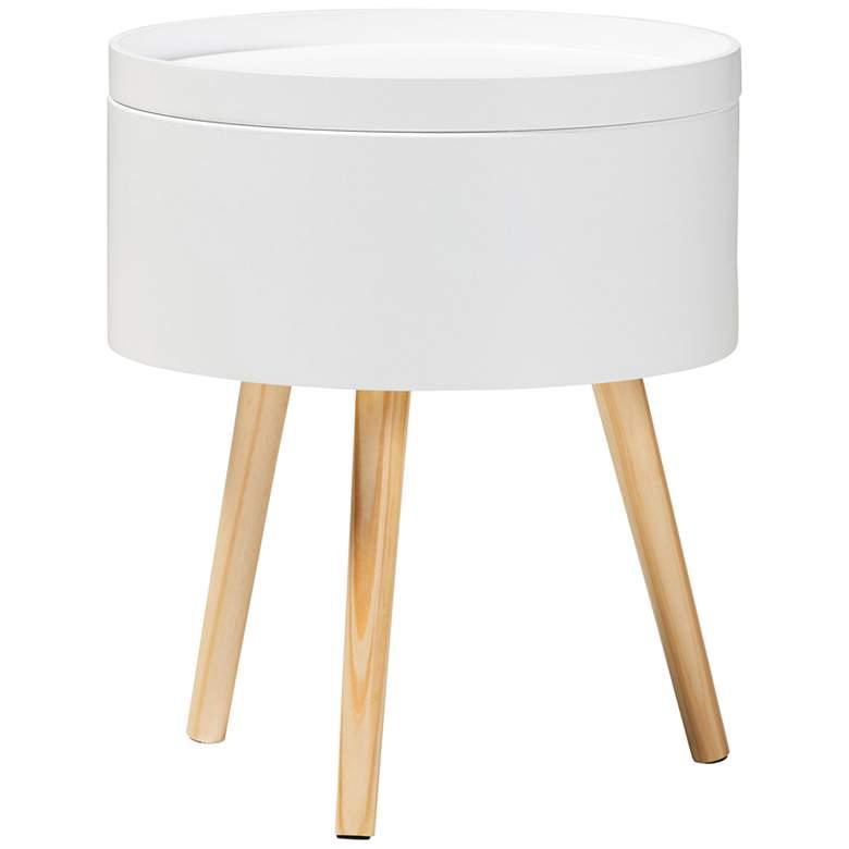 Baxton Studio Jessen White Wood Nightstand w/ Removable Top