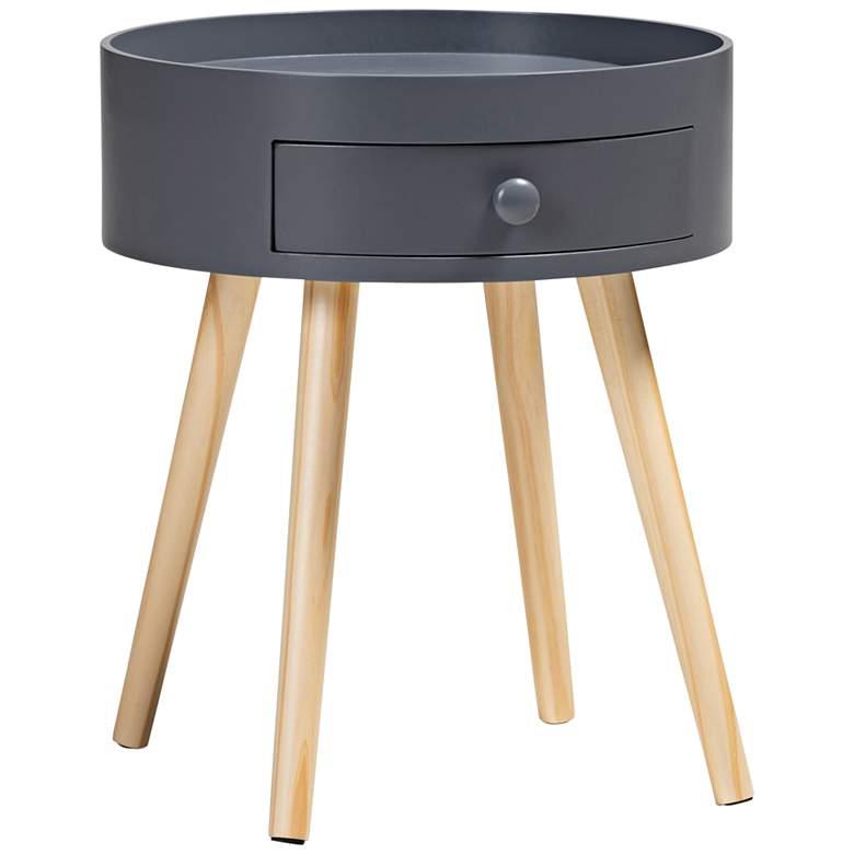 Baxton Studio Jessen Gray Wood 1-Drawer Nightstand