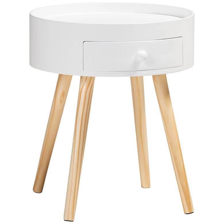 Baxton Studio Jessen White Wood 1-Drawer Nightstand