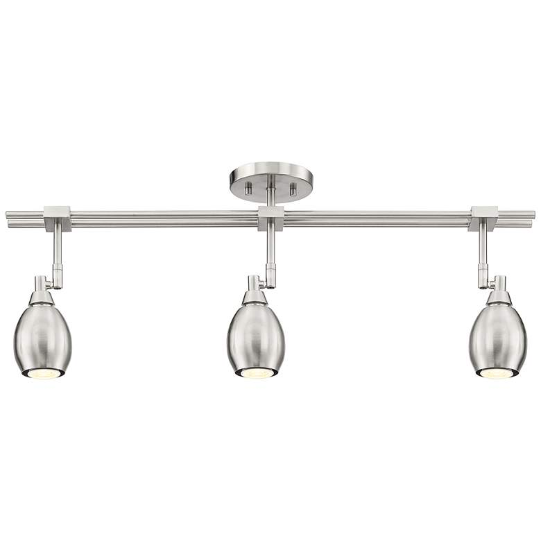 Pro Track Ericson 3-Light Brushed Nickel LED Track Fixture