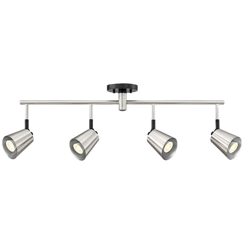 Pro Track Haliwell 4-Light Brushed Nickel LED Track Fixture