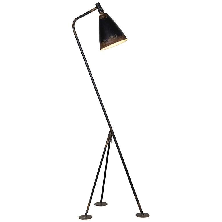 Forty West Jennings Rustic Black Modern Tripod Floor Lamp