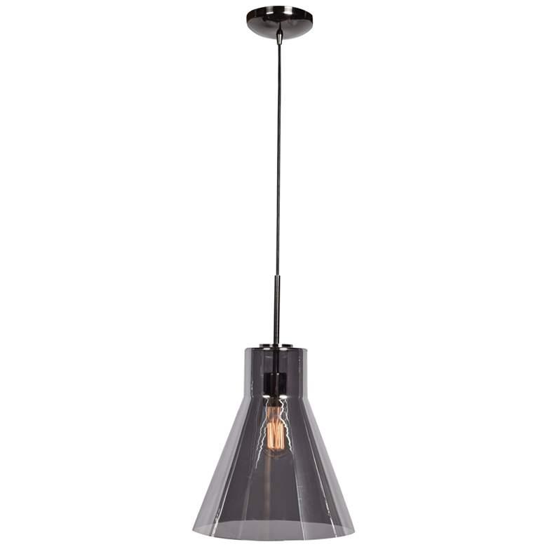 "Simplicite 11 3/4""W Black Nickel Conical LED Mini Pendant"