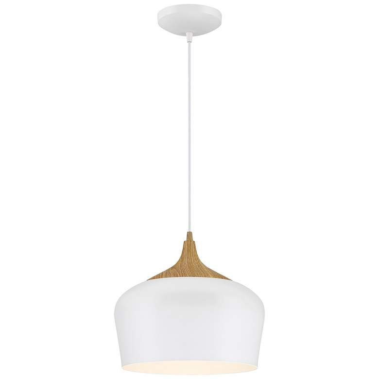 """Blend 11 3/4"""" Wide White Metal LED Mini Pendant"""