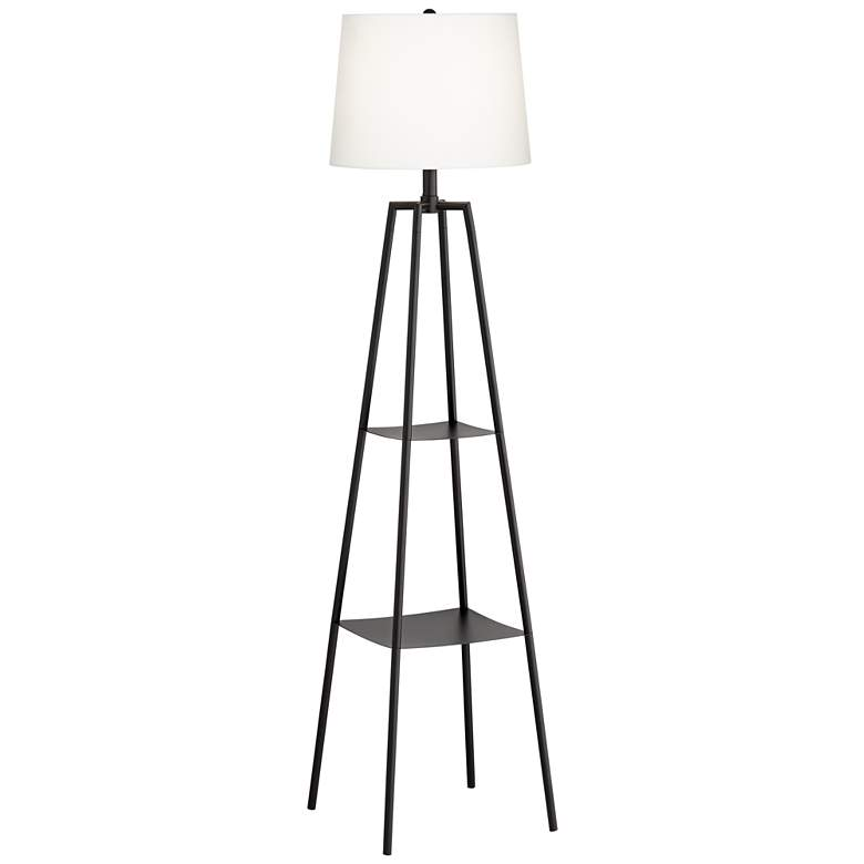 Allister Black Etagere Floor Lamp