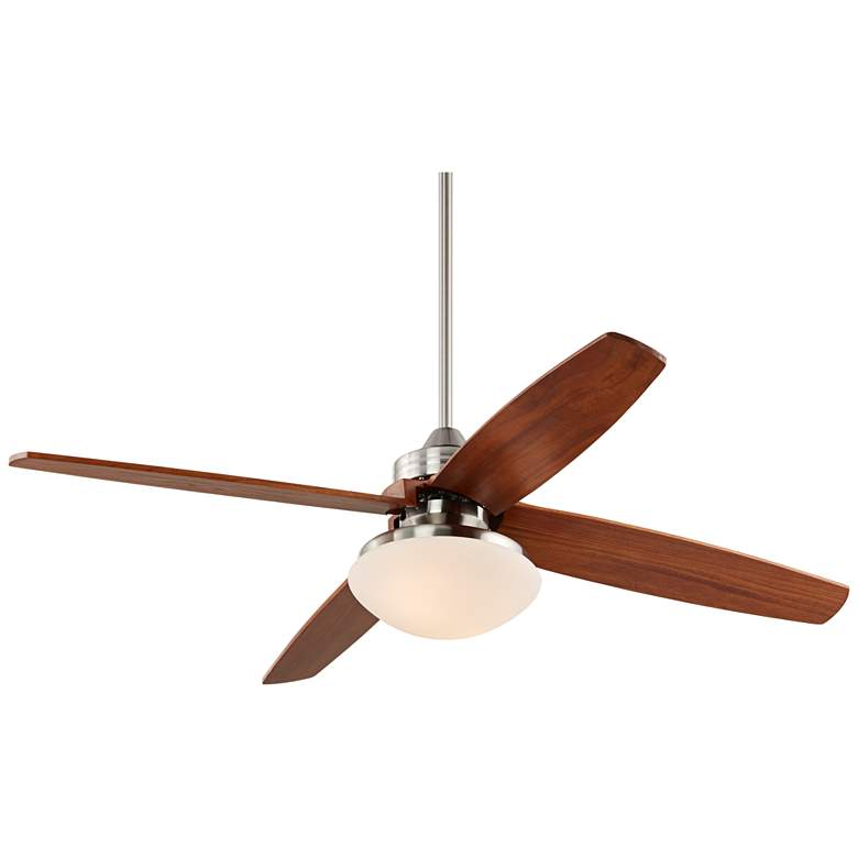 """52"""" Insite Brushed Nickel and Opal Glass LED Ceiling Fan"""