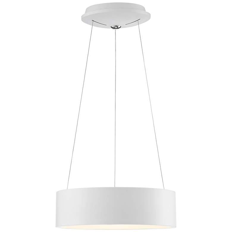 """Radiant 15"""" Wide White LED Drum Pendant Light"""
