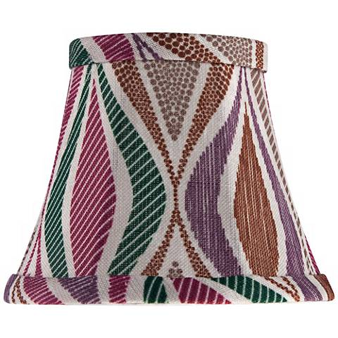 Multi-Color Stripes Bell Shade 3.5x6x5 (Clip-On)