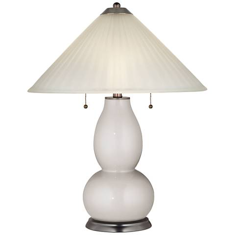 Silver Lining Metallic Fulton Table Lamp with Fluted Glass Shade
