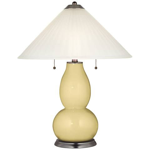 Butter Up Fulton Table Lamp with Fluted Glass Shade